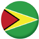 Guyana Country Flag 58mm Mirror Keyring